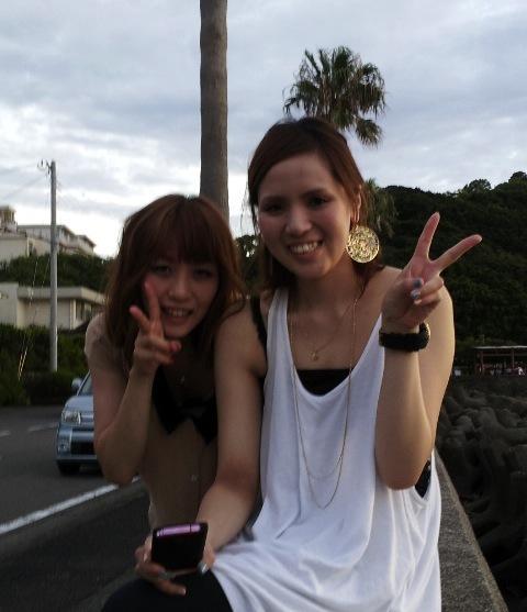 和歌山の海をバックに夕日