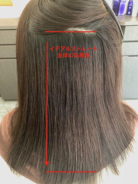 縮毛矯正の履歴箇所