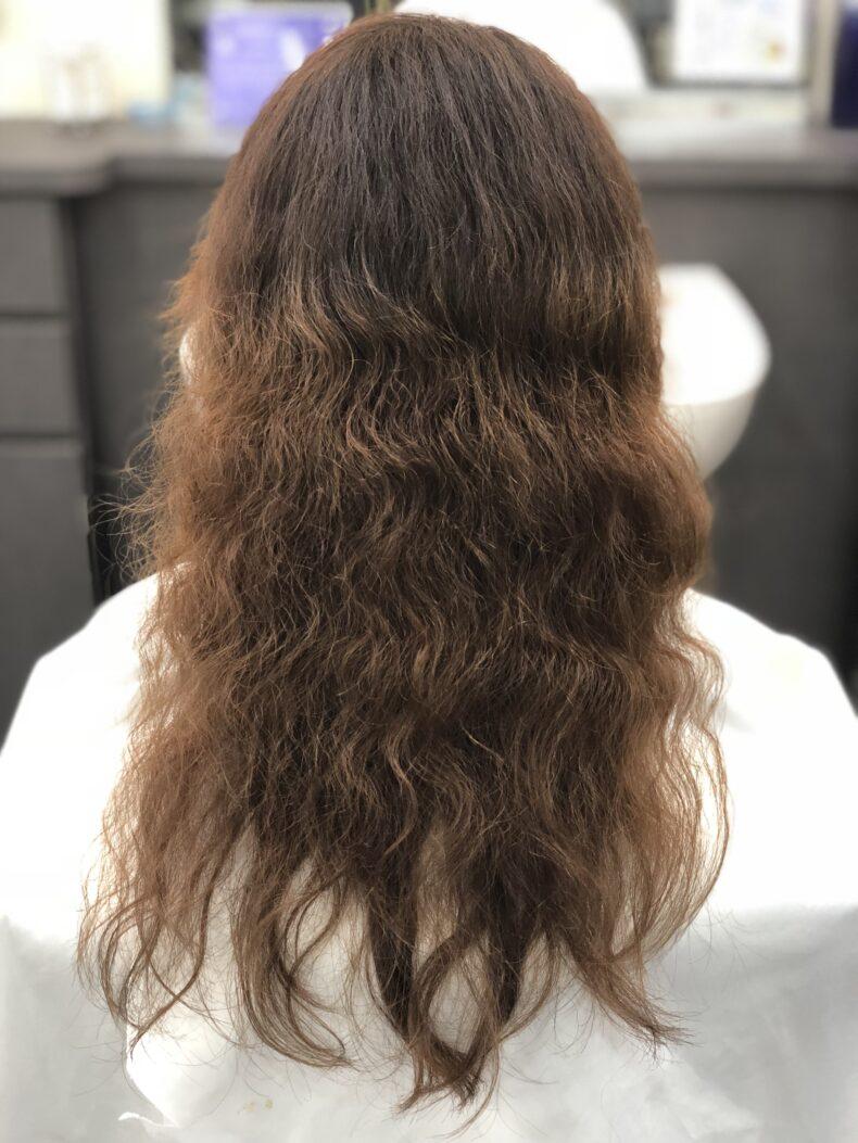 癖毛の施術前